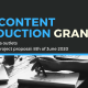 Call for Content Production Grants